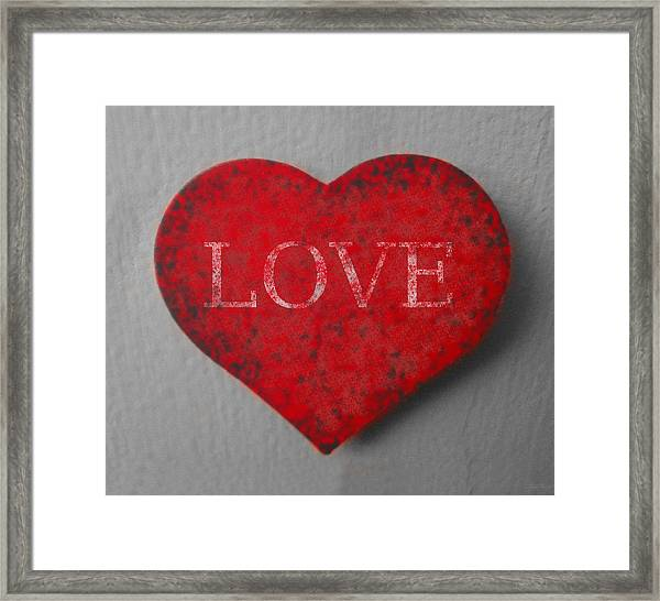 Love Heart 1 Framed Print