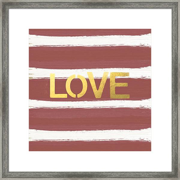 Love In Gold And Marsala Framed Print