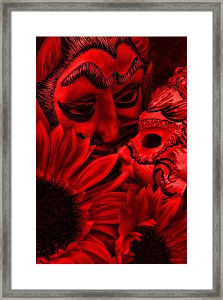 Love In Hell Framed Print