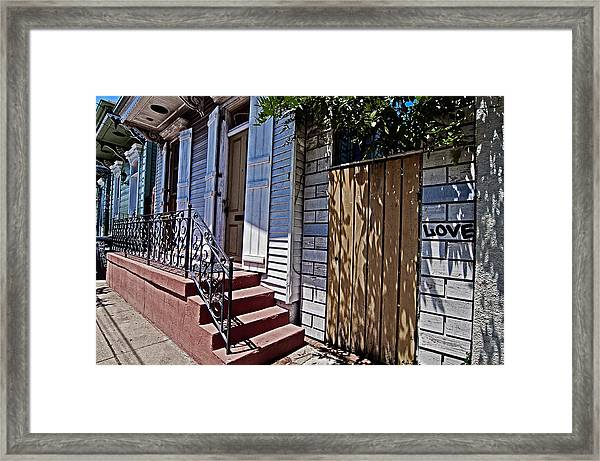 Love In The Marigny Framed Print