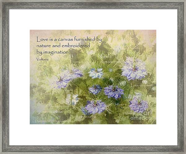 Love Is A Canvas Framed Print