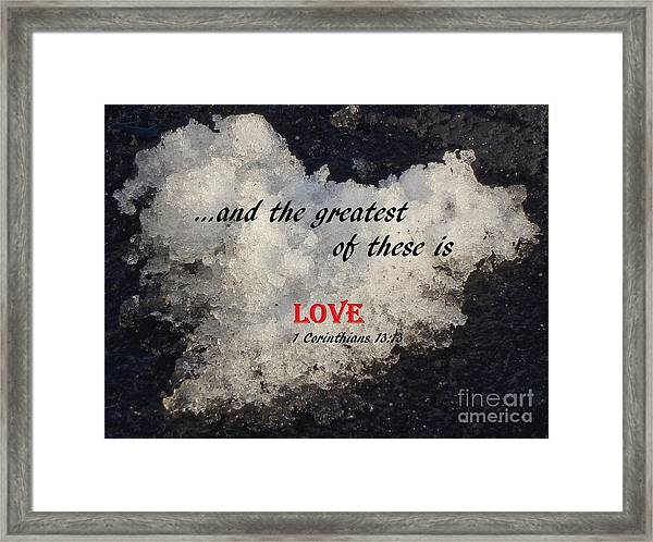 Love Is Great Framed Print