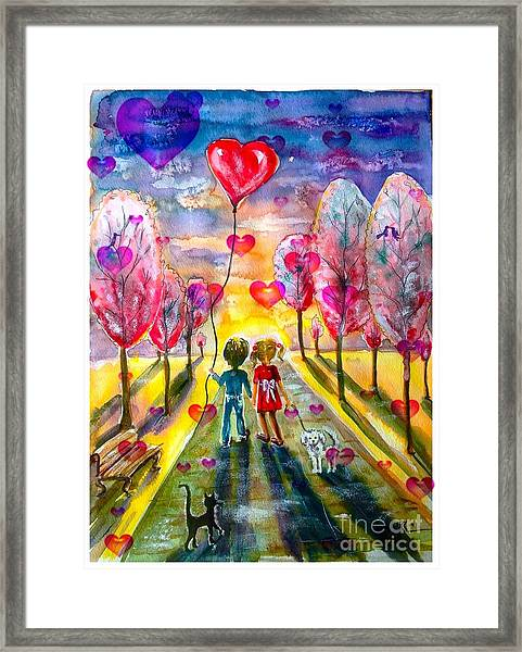 Love Is In The Air 2 Framed Print
