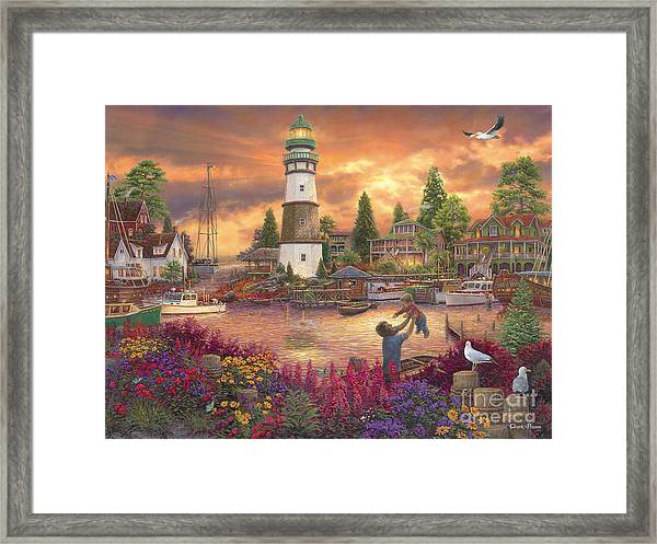 Love Lifted Me Framed Print