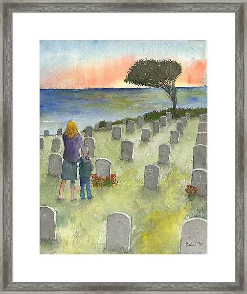Love Lost By A Setting Sun Framed Print