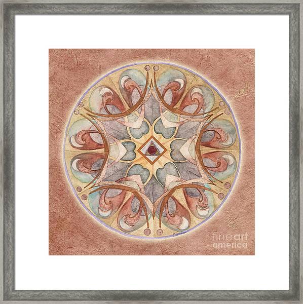 Love Mandala Framed Print
