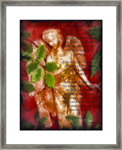 Love Never Fails 3 Framed Print