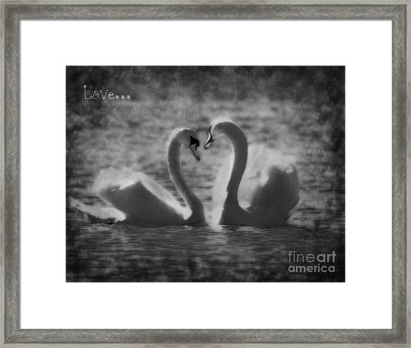 Love... Framed Print