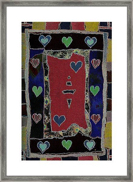 Love Ornament - V2 -  Framed Print