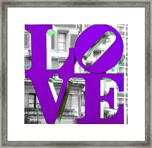 Love Philadelphia Purple Framed Print