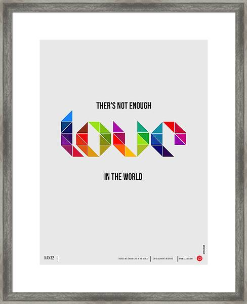 Love Poster 1 Framed Print