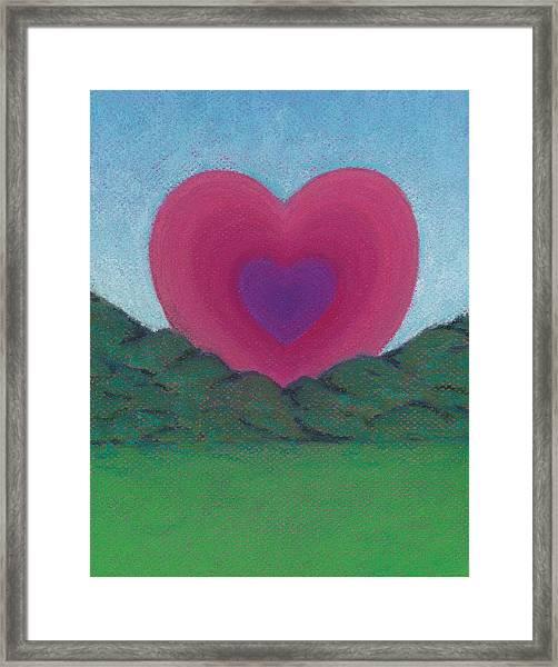 Love Rising Framed Print