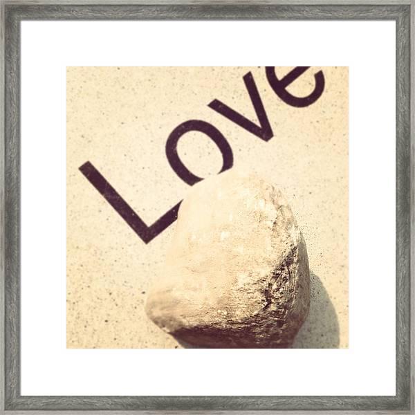 Love Rocks Framed Print