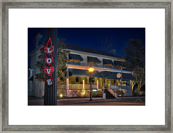 Framed Print featuring the photograph Love Smithfield Inn by Williams-Cairns Photography LLC
