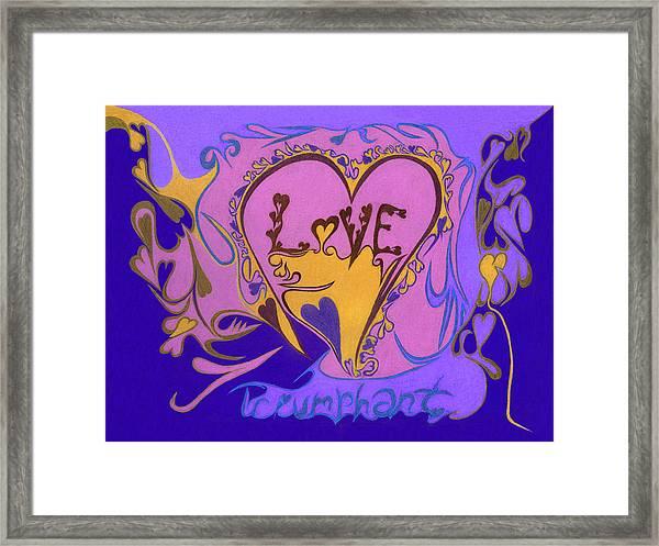 Love Triumphant Framed Print