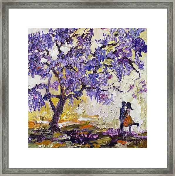 Love Under The Jacaranda Tree Framed Print