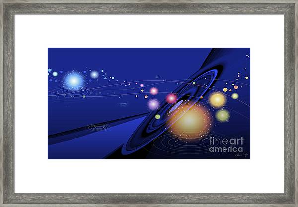 Framed Print featuring the digital art Love  Universe by Eleni Mac Synodinos