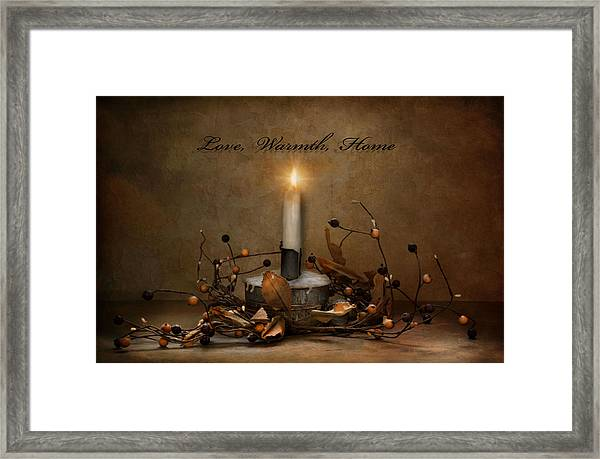 Love Warmth Home Framed Print