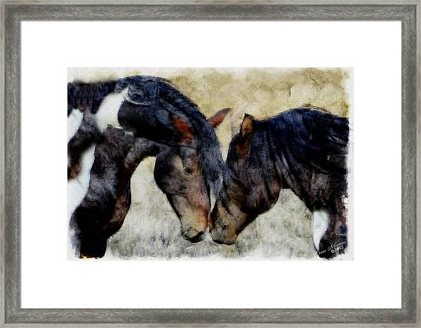 Love Will Keep Us Together - Painting Framed Print