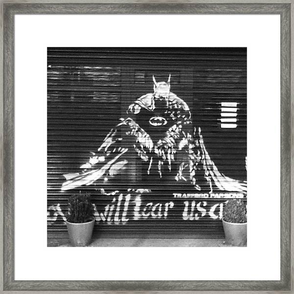 Love Will Tear Us Apart #batman Framed Print