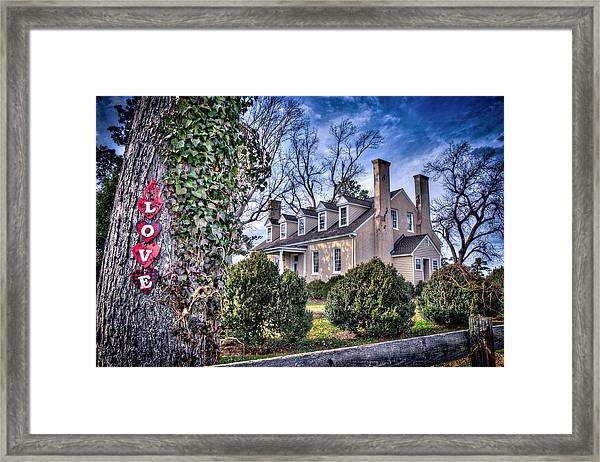 Framed Print featuring the photograph Love Windsor Castle by Williams-Cairns Photography LLC