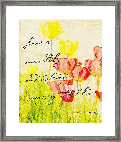 Love Words Framed Print