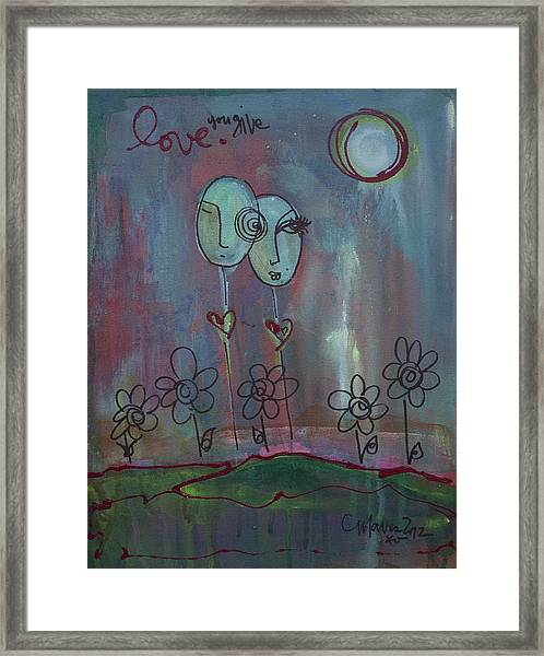 Framed Print featuring the painting Love You Give Lollipops by Laurie Maves ART