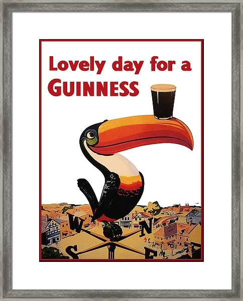 Lovely Day For A Guinness Framed Print