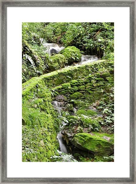 Lovely Waterfall Framed Print