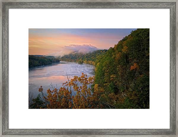 Lovers Leap Sunrise Framed Print
