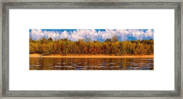 Lovers On The Bank Framed Print