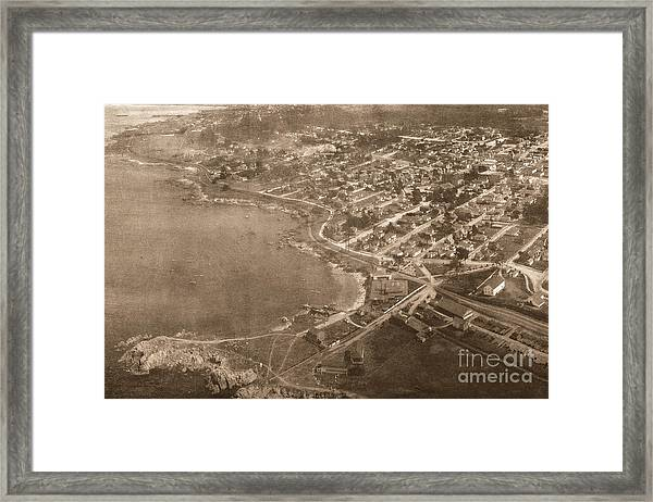 Aerial Of Lovers Point And Pacific Grove California July 10 1906 Framed Print