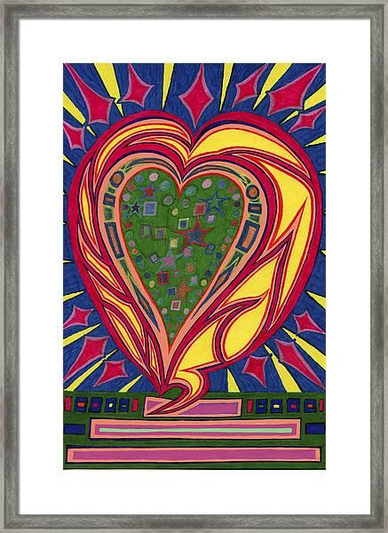 Love's Brilliance Illuminated Framed Print