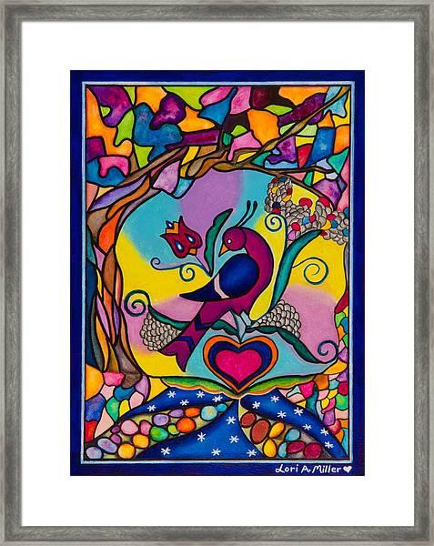 Loving The World Framed Print