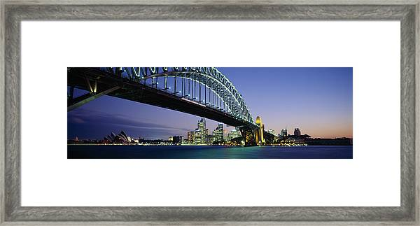 Low Angle View Of A Bridge, Sydney Framed Print