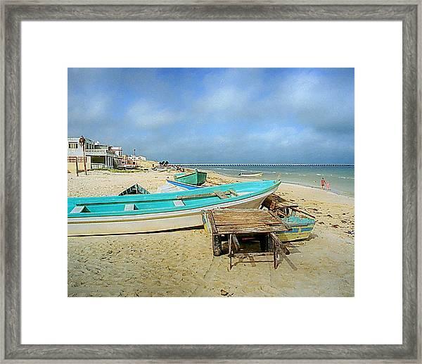 Low Tide Framed Print