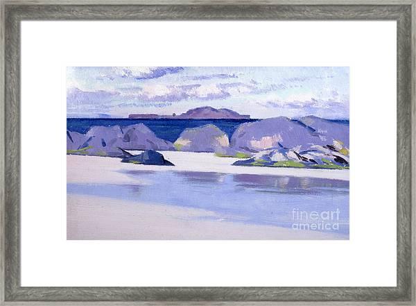 Low Tide  Iona Framed Print