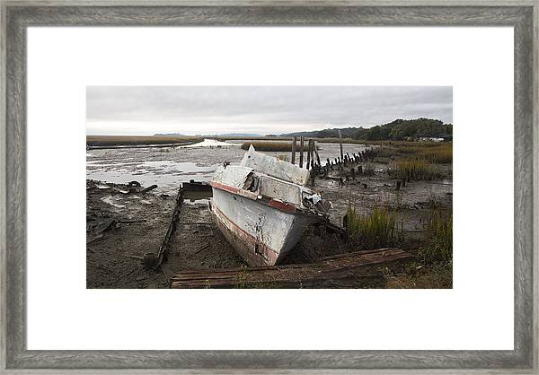 Low Tide Panorama Framed Print