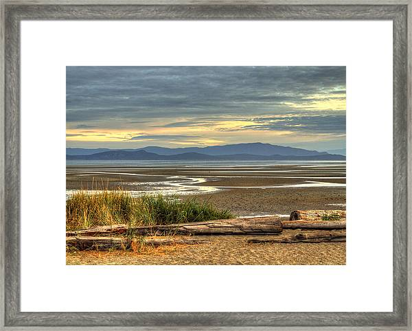 Framed Print featuring the photograph Low Tide by Randy Hall