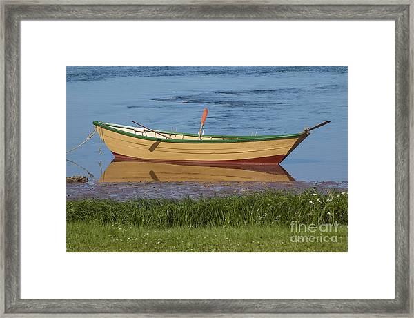 Low Tide Reflection Framed Print