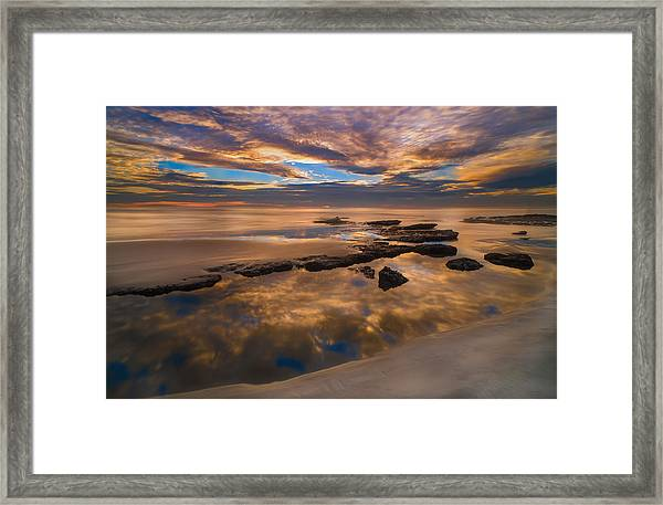Low Tide Reflections Framed Print