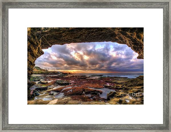 Low Tide Sunset In La Jolla Framed Print