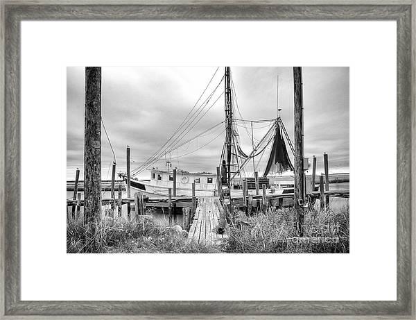 Lowcountry Shrimp Boat Framed Print