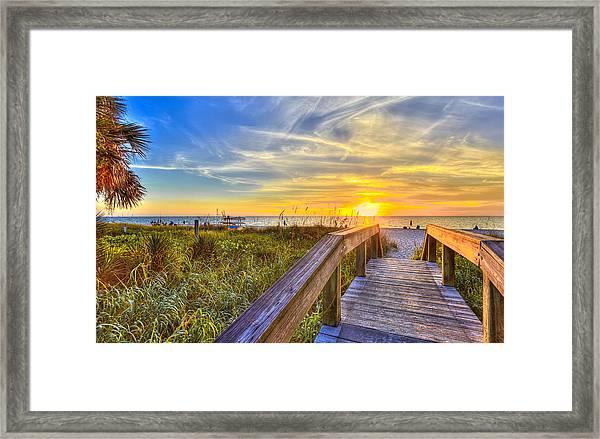 Lowdermilk Sunset Framed Print