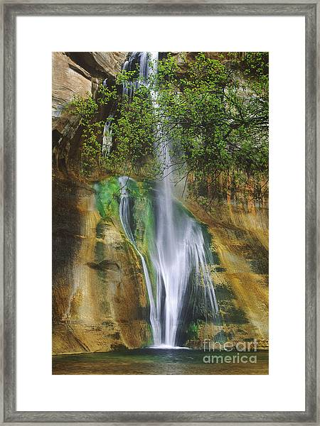 Lower Calf Creek Falls Escalante Grand Staircase National Monument Utah Framed Print