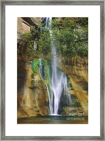 Lower Calf Creek Falls Escalante Grand Staircase National Monument Utah Framed Print