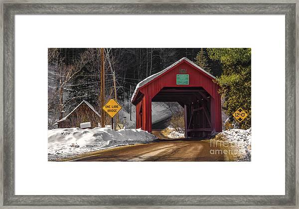 Lower Covered Bridge. Framed Print