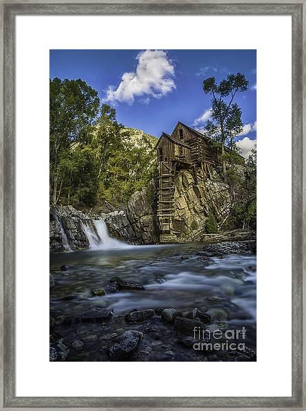 Lower Crystal Mill  Framed Print