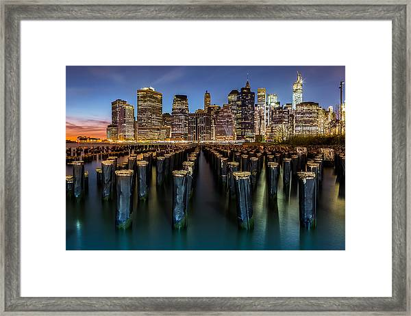 Lower Manhattan Framed Print