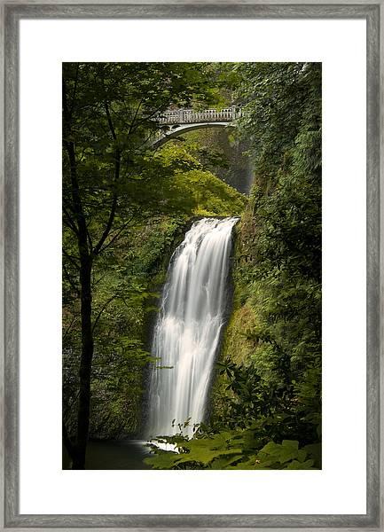 Lower Multnomah Falls Framed Print